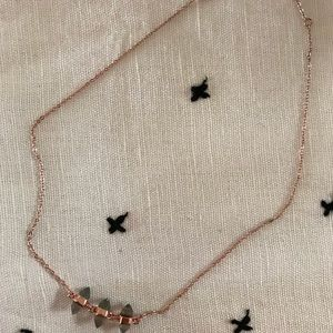 Rebecca Minkoff Three Crystal Necklace Rose Gold